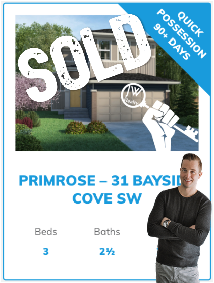 Genesis Home in Bayside Airdrie | Sold by Top Airdrie Agent Justin Wiechnik of the JW Realty Team at Grassroots Realty Group | 31 Bayside Cove SW Airdrie